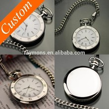 2016 Classic replica silver wholesale men's watches, vogue simple classic pocket watches