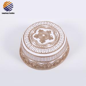 acd8f41057e Custom Oman Muslim Caps For Men Embroidered Net