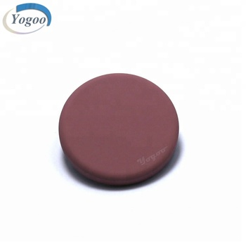 Chinese Designer Frosted Flat Round Metal Clothing Button for Fur Coat