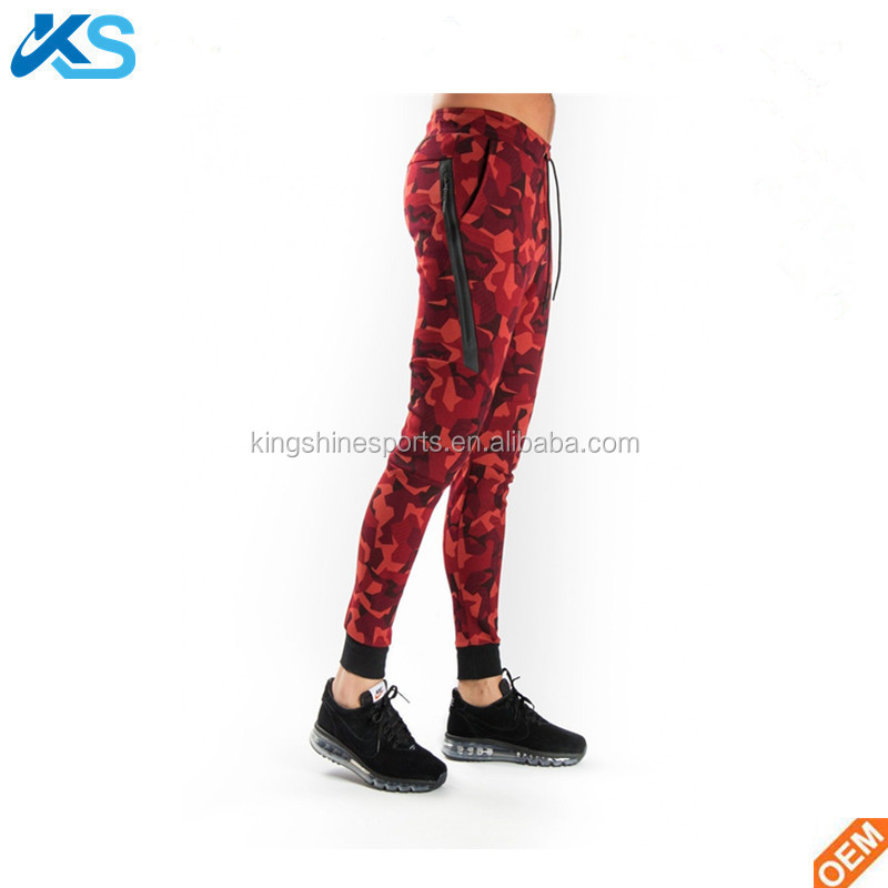 Wholesale Sportswear Tech Fleece Joggers red Sweatpants