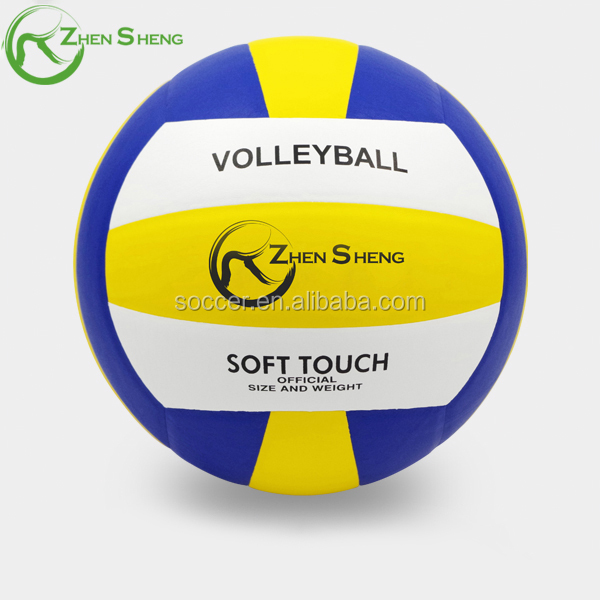 Zhensheng colorful volley ball leather voleyball