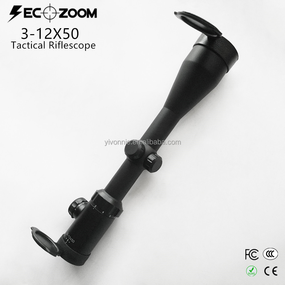 OEM High End Gun Smith Adjustable 3-12X50mm Tactical Riflescope the Hunting China Rifle Tactical Scope