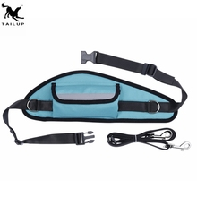 Running Sports Bungee Nylon Dog Leash Hands free Dog Lead Travel Treat Bag For Dogs