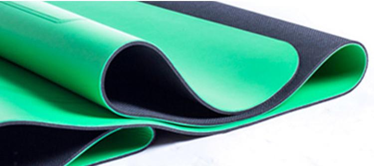 Logotipo personalizado de fábrica amostra grátis não-slip esteiras da ioga eco friendly do plutônio pu e borracha natural tapete de yoga