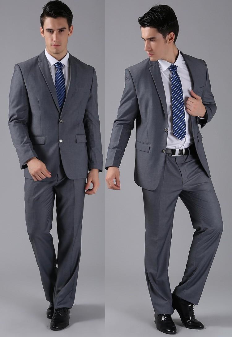 (Kurtki + Spodnie) 2016 Nowych Mężczyzna Garnitury Slim Fit Niestandardowe Garnitury Smokingi Marka Moda Bridegroon Biznes Suknia Ślubna Blazer H0285 52