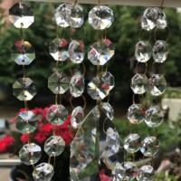 Brilliant Crystal Clear Garland Hanging Bead Curtain Wedding Club Party Decoration