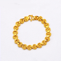 xuping jewels dubai 24k gold filled heart shape bracelet for women