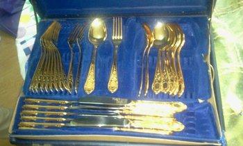 Solingen Gold Flatware Set - Buy Gold Plated Flatware Product on ...