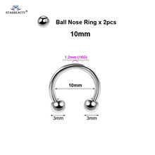 Многоцелевой BCR Пирсинг спираль для лица, 2 шт., кольцо для носа, сексуальное женское кольцо для пирсинга гениталиев, вач, лабий, Мужская Мошон...(China)