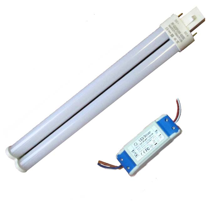 double tubes EXTERNAL LED driver 12w g23 g24 led pl lamp