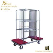 Four Wheels Mobile Glass table carry cart