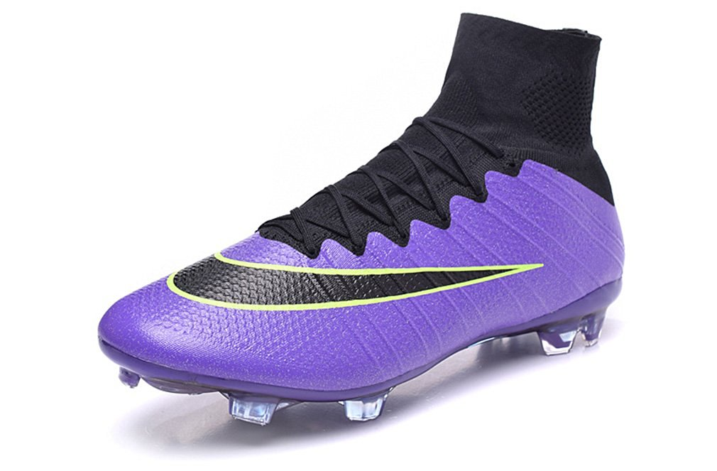 7baf6b386 Get Quotations · Mens Mercurial X Superfly IV FG With ACC Purple High Top Football  Shoes Soccer Boots