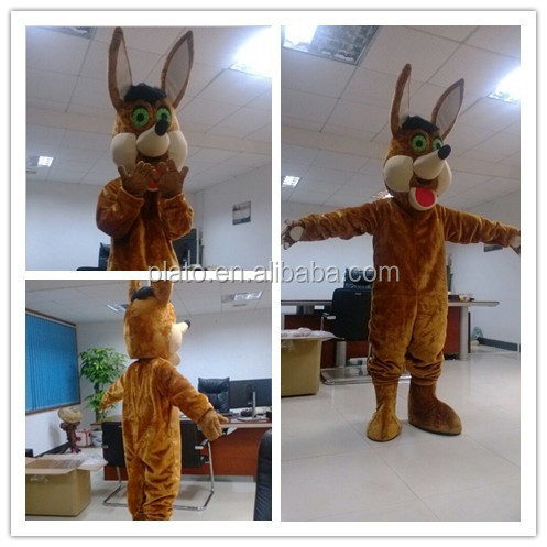 Hot Selling Plush Coyotes Biography Mascot Costume Mascot for Adult Size