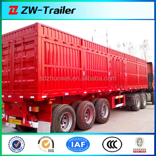 Van cargo trailer for electric appliance / textile goods / coal / dinas transportation with open type optional