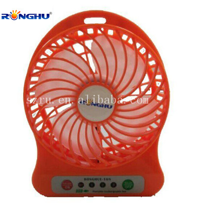Newest Portable Colorful Air Cooling 3 Speed LED Light USB Fan