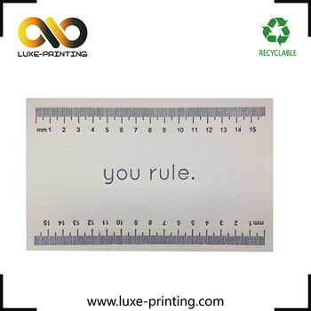ruler printed cotton paper business cards custom order business card