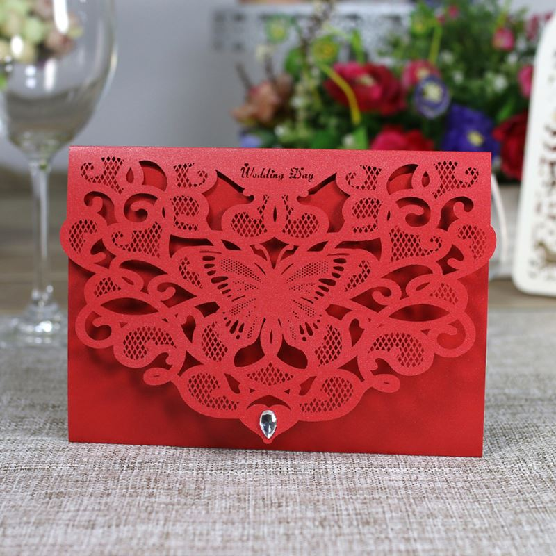 Unique <strong>Luxury</strong> Laser Cut Embossed Laser Cut <strong>Wedding</strong> <strong>Invitation</strong> Cards