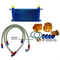 High performance AN10 9 rows Car Universal Aluminum oil cooler kit motorcycles