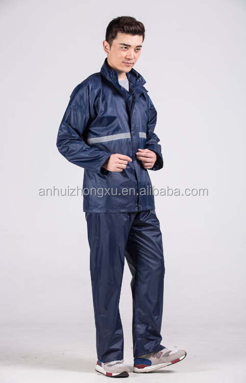 Impermeable y transpirable 190 T nylon impermeable trabajo reflexivo impermeable