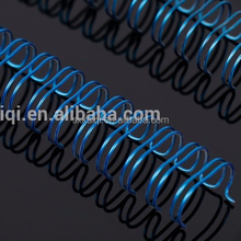 Blue colorful spiral ring coil for school supplies