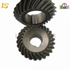 Helical Tooth Small Steel Pinion Gear Bevel Gear