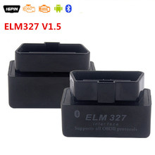 Mini ELM 327 V1.5 Bluetooth Interface ELM 327 OBD2 OBDII Bluetooth Diagnostic Tool ELM327 Bluetooth V1.5 for All OBD2 Protocols
