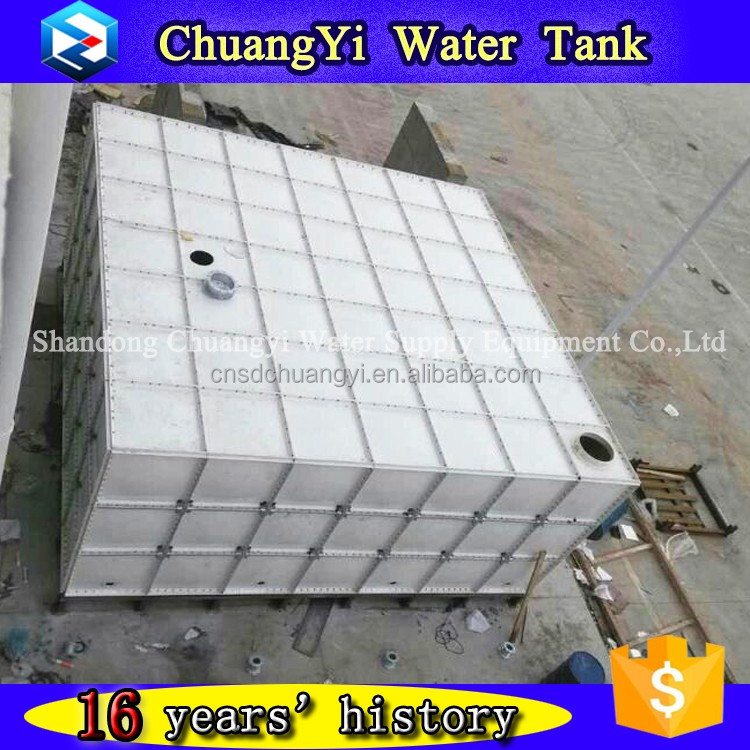 GRP panel water storage tank for firefighting, smc portable water storage tanks, frp combined water tank for industry