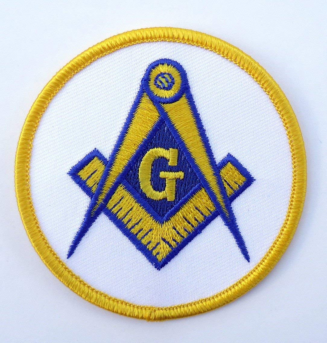 564d04e0a28 Get Quotations · Masonic G Square Compass Embroidered Patch iron on