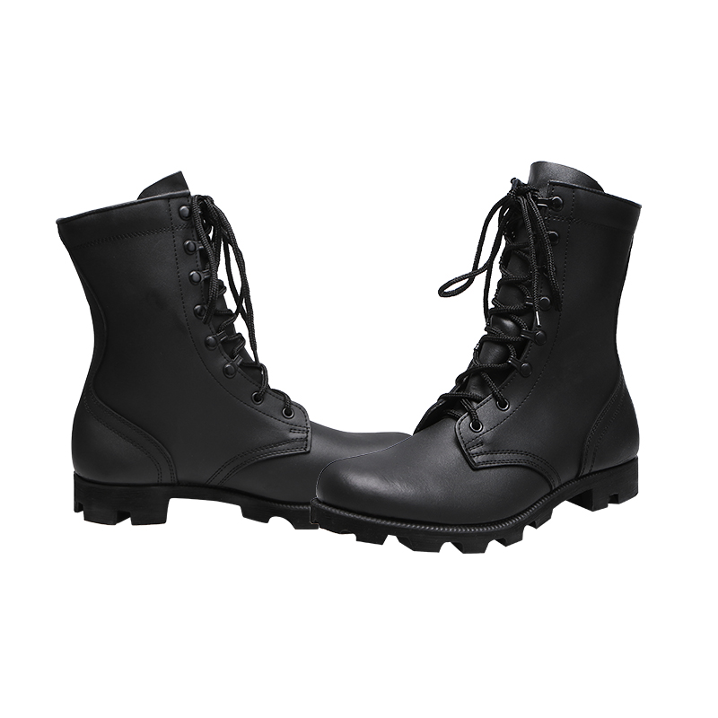 Xinxing full grain leather upper military boots for army with moulding rubber outsole for soldier MB27