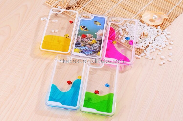 2014 new arrival Quicksand Case For Iphone5/5s, Water Sand Glass cover for iphone5/5s