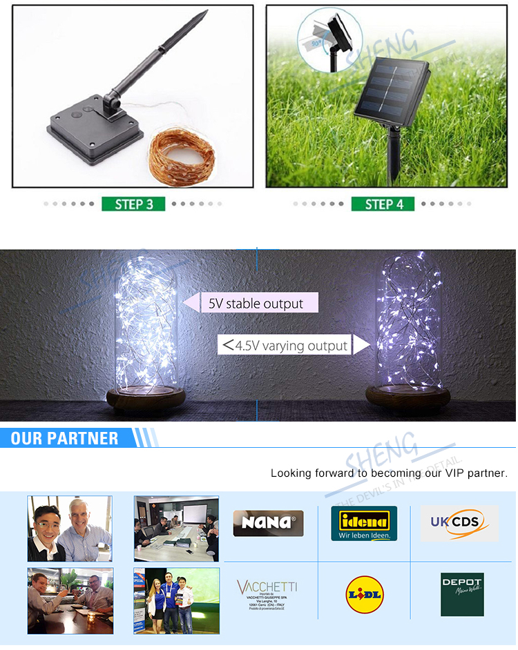 Christmas Holiday solar led outdoor string light Decoration