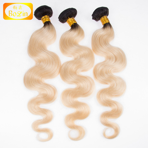 wholesale alibaba brazilian human hair body wave blonde hair bundles with lace closure 1b /613 blonde hair weave