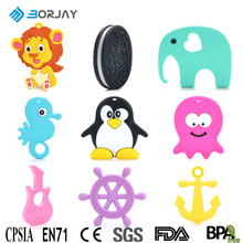 2017 Popular BPA Free Food Grade Chew Toys Silicone Baby Teether