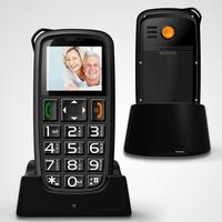 MTK6260 1.77inch T02 Dual Sim Card Big Font Large Keypad with Large Screen Mobile Phone for Elderly