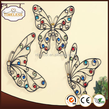 Factory supply wall art decor butterfly metal craft room for Room decor embellishment art
