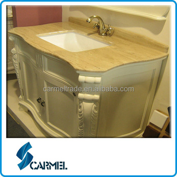 beige marble bathroom countertops with built in sinks 24858