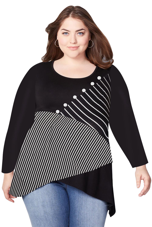 3261a9055a Classic Style Women Long Sleeve Plus Size Shirts Blouses - Buy Plus ...