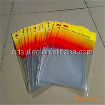 transparent colorful opp clear zip lock bags with printing
