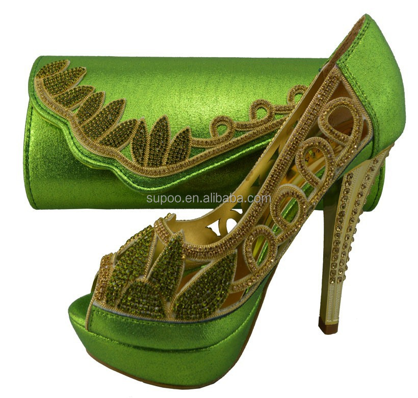 Hottest Italian Matching Shoe And Bag Set Tsb131 Lemon Green Color ... eb4e6f0581fb