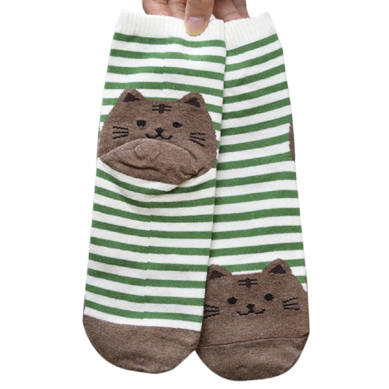 Women Socks,UPLOTER 3D Animals Striped Cartoon Socks Women Cat Footprints Cotton Socks Floor