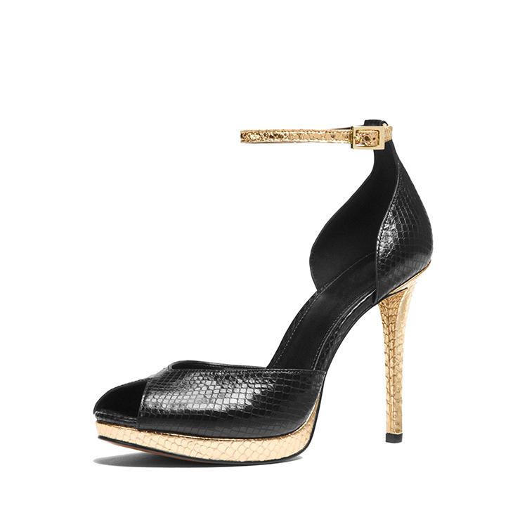 safety woman toe shoes rubber girls high platform lady fancy 2018 sneak heel metal peep Eqpvpfw