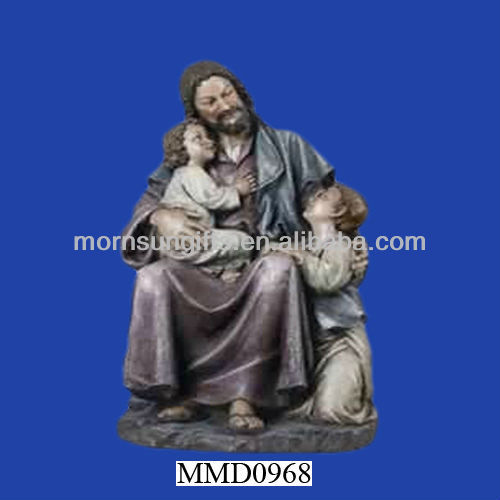 Jesus with children antique porcelain figurines