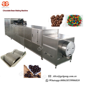 Colorful Coated Coffee Beans Forming Production Line Chocolate Bean Making Machine