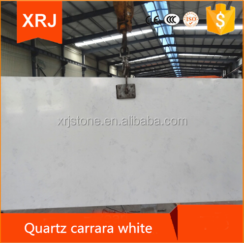 White natural carrara quartz stone slabs