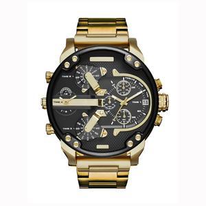 Wholesale Famous Series Big Dial Gold Men Wristwatches High Quality Steel back Cover Clock DZ Japan Movement Quartz Watch