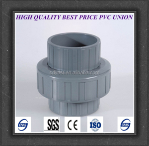 factory price upvc water pipe fittilngs union