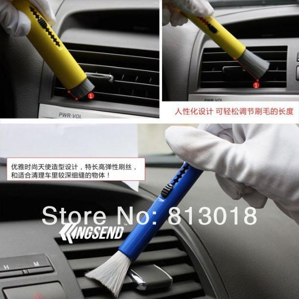 Лучший автомобиль уход убирающийся щётка для очистки пыль кисть для инструмент стол воздушный выход клавиатура