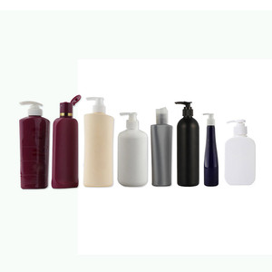 Factory Custom Multi Type HDPE PET Cosmetic Packing Plastic Shampoo Bottles with Press Pump Cap