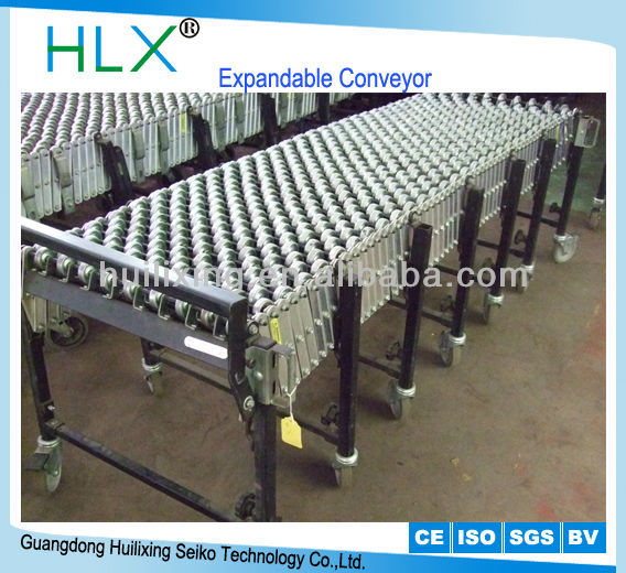 Stainless Steel Galvanized Expandable Conveyor For Supermarket Storage Rack