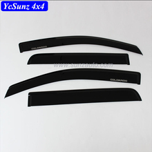 Pickup Colorado Acrylic <span class=keywords><strong>Tấm</strong></span> Black For Colorado 2016 Window Visor Rain Visor 4x4 Phụ Kiện